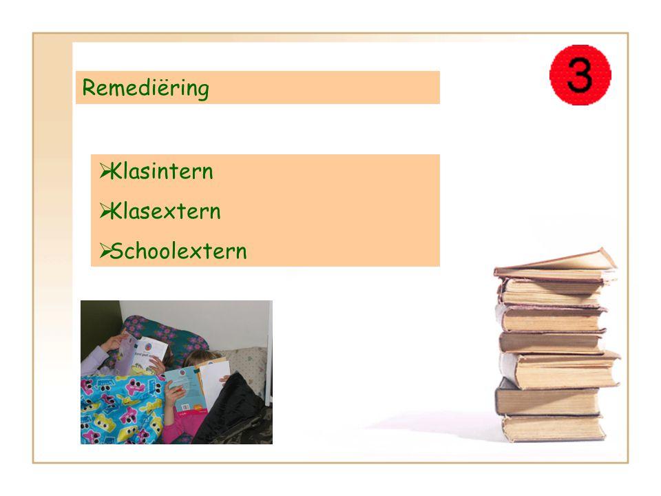 Remediëring KKlasintern KKlasextern SSchoolextern