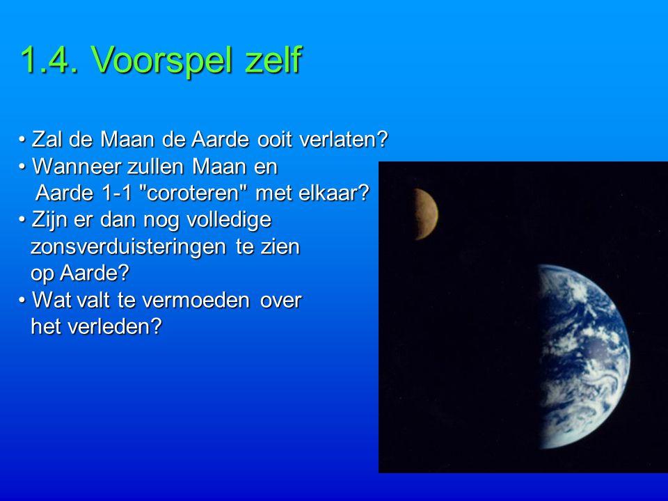 1.4.Voorspel zelf Zal de Maan de Aarde ooit verlaten.