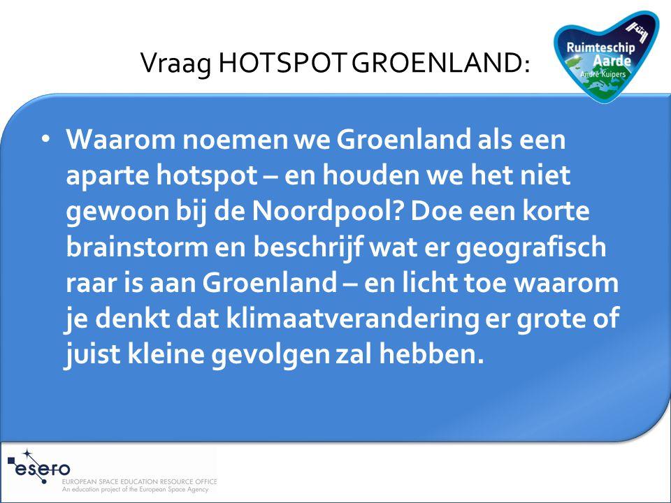 Toelichting HOTSPOT GROENLAND: