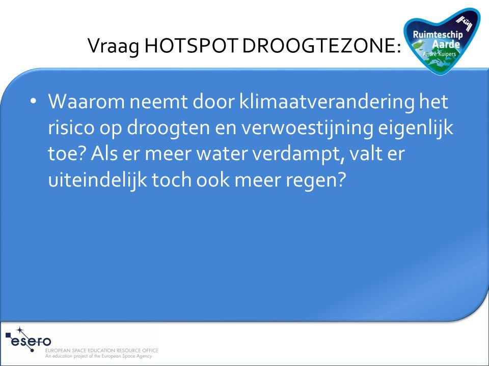 Toelichting HOTSPOT DROOGTEZONE: