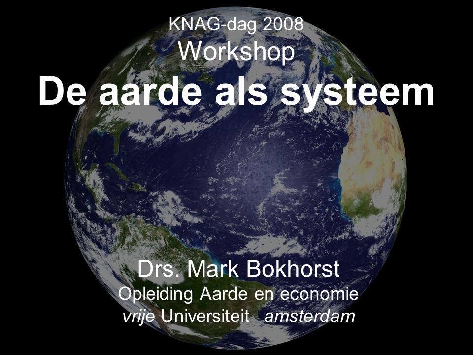 Aardwetenschappen KNAG-dag 2008 Workshop De aarde als systeem Drs.