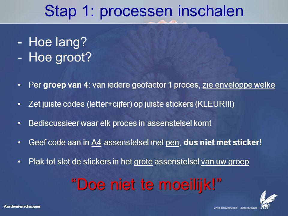 Aardwetenschappen Stap 1: processen inschalen -Hoe lang.