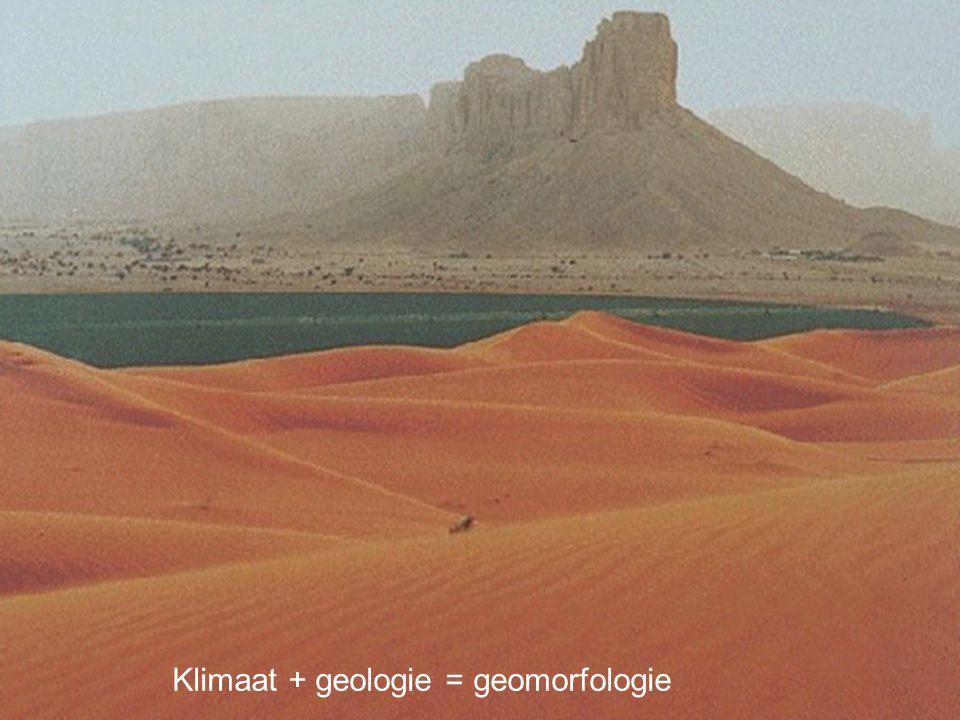 Aardwetenschappen Klimaat + geologie = geomorfologie