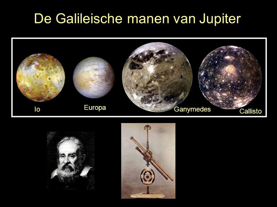De Galileische manen van Jupiter Io Europa Ganymedes Callisto