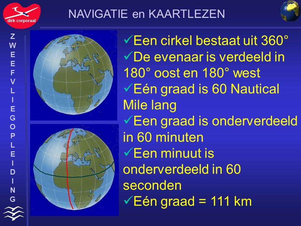 ZWEEFVLIEGOPLEIDINGZWEEFVLIEGOPLEIDING De meridianen worden van de evenaar tot de noordpool verdeeld in 90° De breedte en de lengte zijn de coördinaten van een punt op aarde De coördinaten worden in graden, minuten en seconden weergegeven.