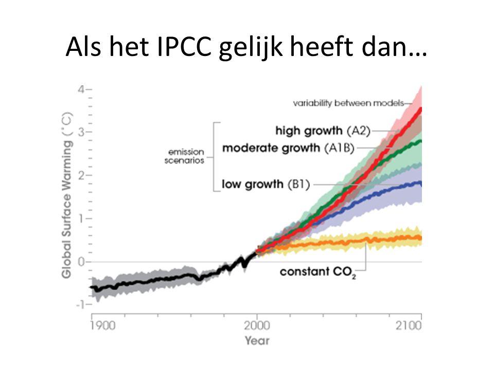 Als het IPCC gelijk heeft dan…