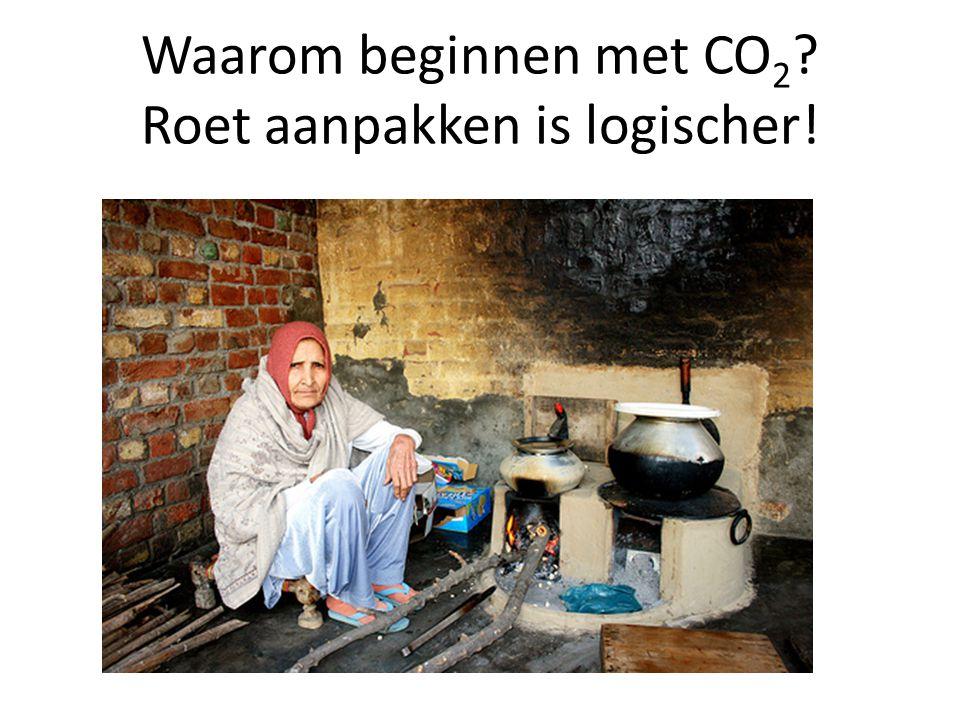 Waarom beginnen met CO 2 ? Roet aanpakken is logischer!