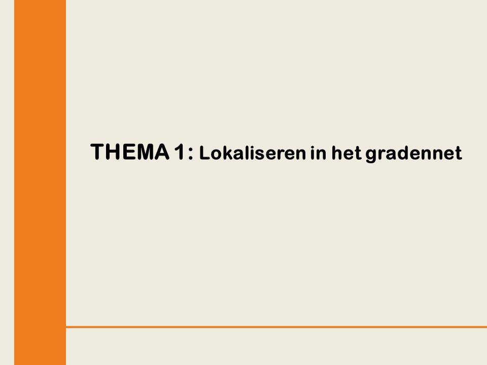 THEMA 1: Lokaliseren in het gradennet