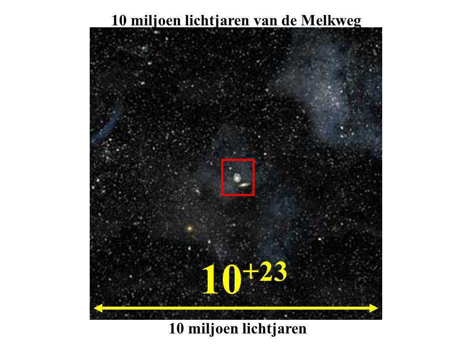 10 +23 10 miljoen lichtjaren van de Melkweg 10 miljoen lichtjaren