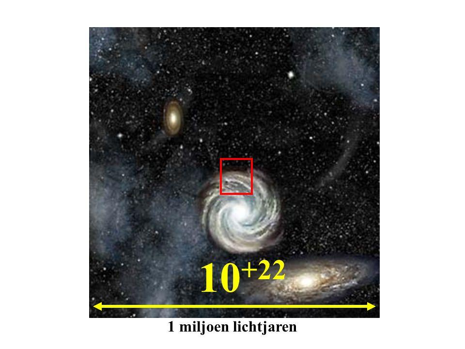 10 +22 1 miljoen lichtjaren