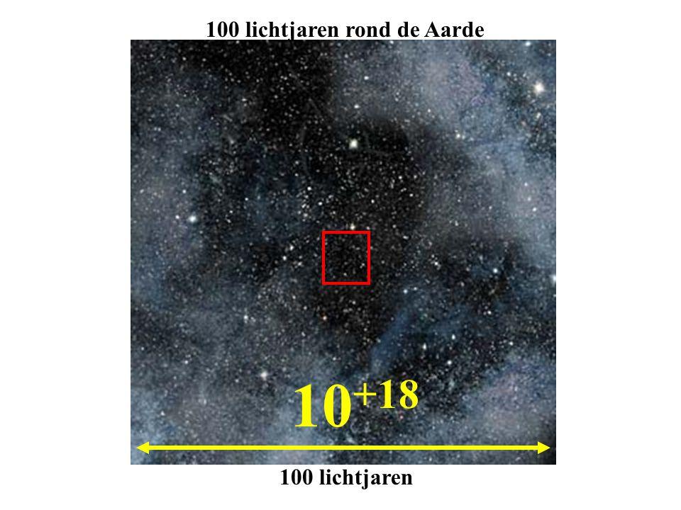 10 +18 100 lichtjaren 100 lichtjaren rond de Aarde