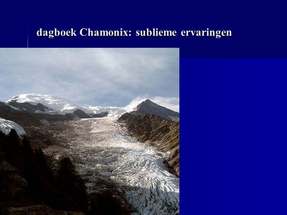 dagboek Chamonix: sublieme ervaringen dagboek Chamonix: sublieme ervaringen