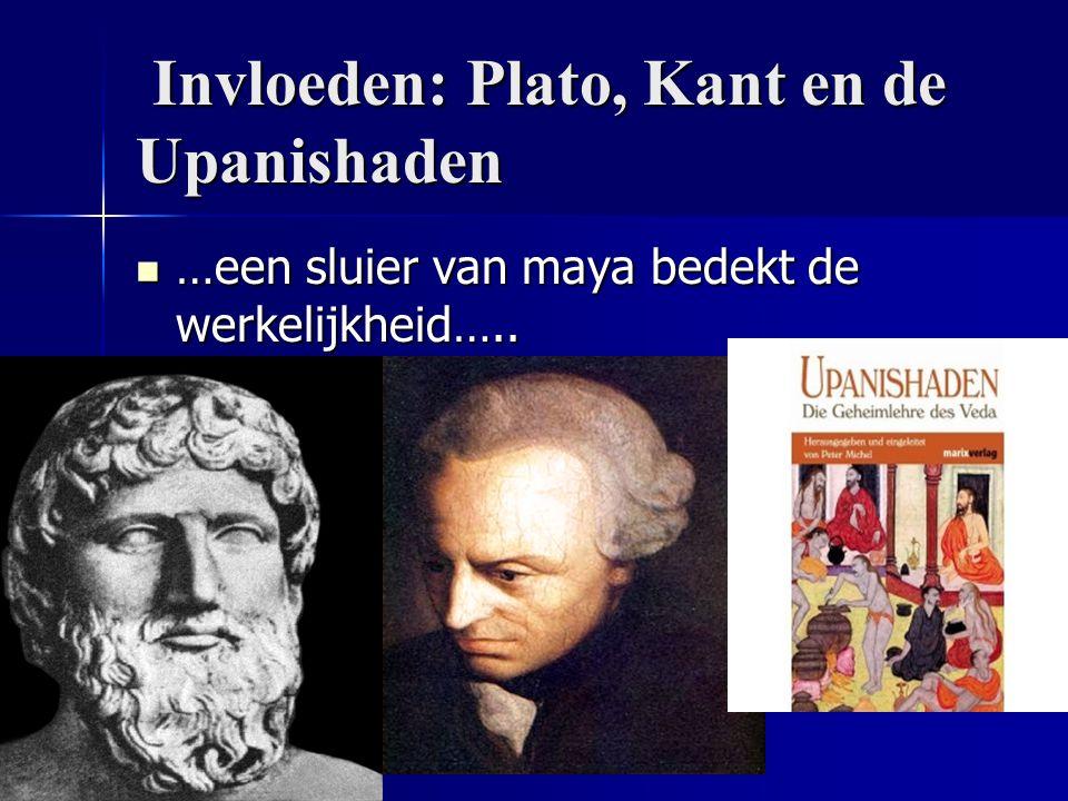 Invloeden: Plato, Kant en de Upanishaden Invloeden: Plato, Kant en de Upanishaden …een sluier van maya bedekt de werkelijkheid….. …een sluier van maya