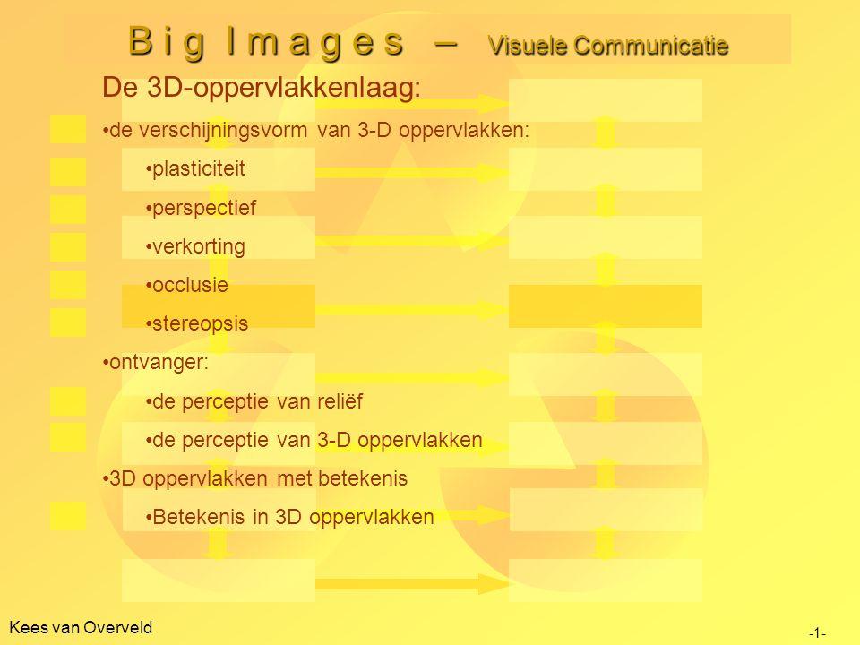 Kees van Overveld B i g I m a g e s – Visuele Communicatie -1- De 3D-oppervlakkenlaag: de verschijningsvorm van 3-D oppervlakken: plasticiteit perspec