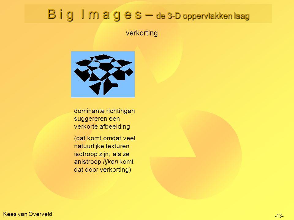 Kees van Overveld verkorting dominante richtingen suggereren een verkorte afbeelding (dat komt omdat veel natuurlijke texturen isotroop zijn; als ze a