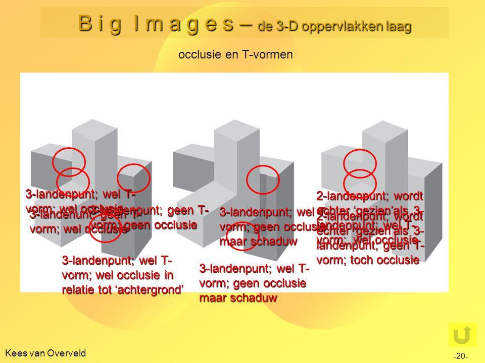 Kees van Overveld occlusie en T-vormen -20- B i g I m a g e s – de 3-D oppervlakken laag 3-landenpunt; geen T- vorm; geen occlusie 3-landenpunt; wel T
