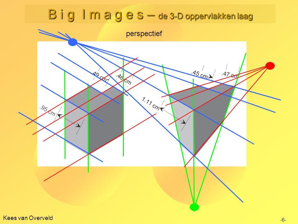 Kees van Overveld perspectief -6- B i g I m a g e s – de 3-D oppervlakken laag