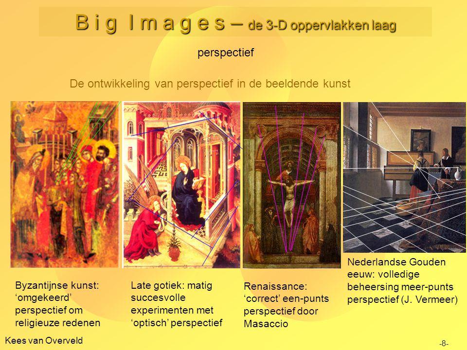 Kees van Overveld De ontwikkeling van perspectief in de beeldende kunst perspectief -8- Byzantijnse kunst: 'omgekeerd' perspectief om religieuze reden