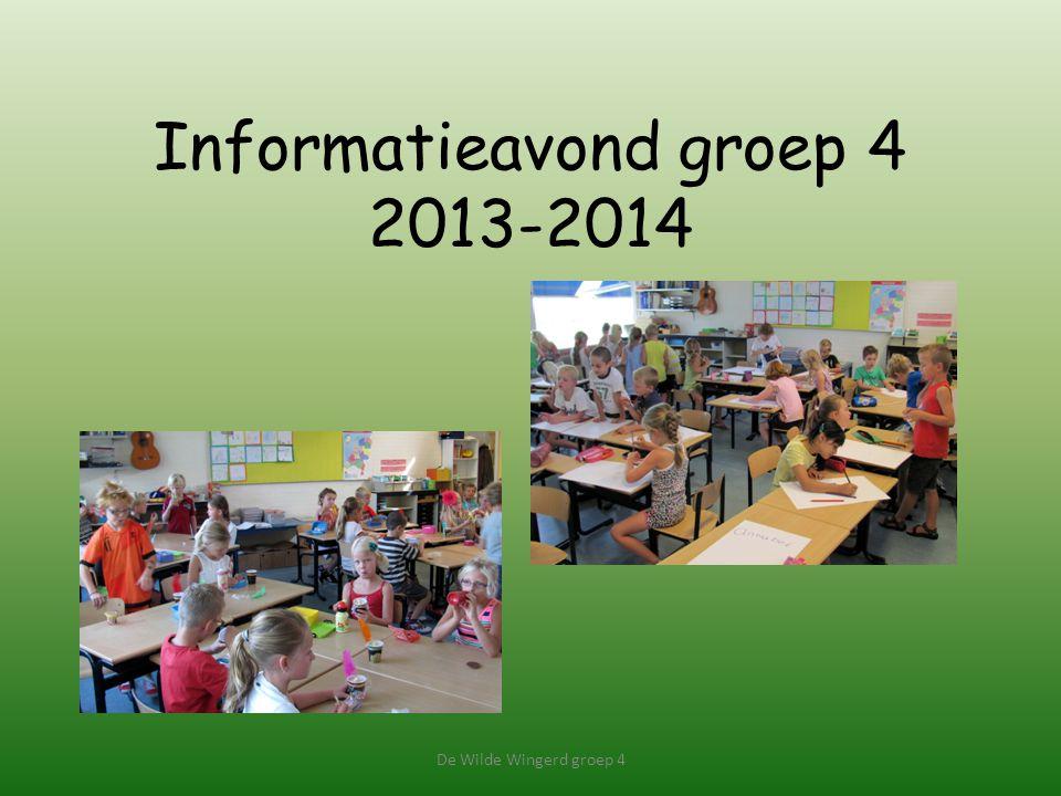 Informatieavond groep 4 2013-2014 De Wilde Wingerd groep 4