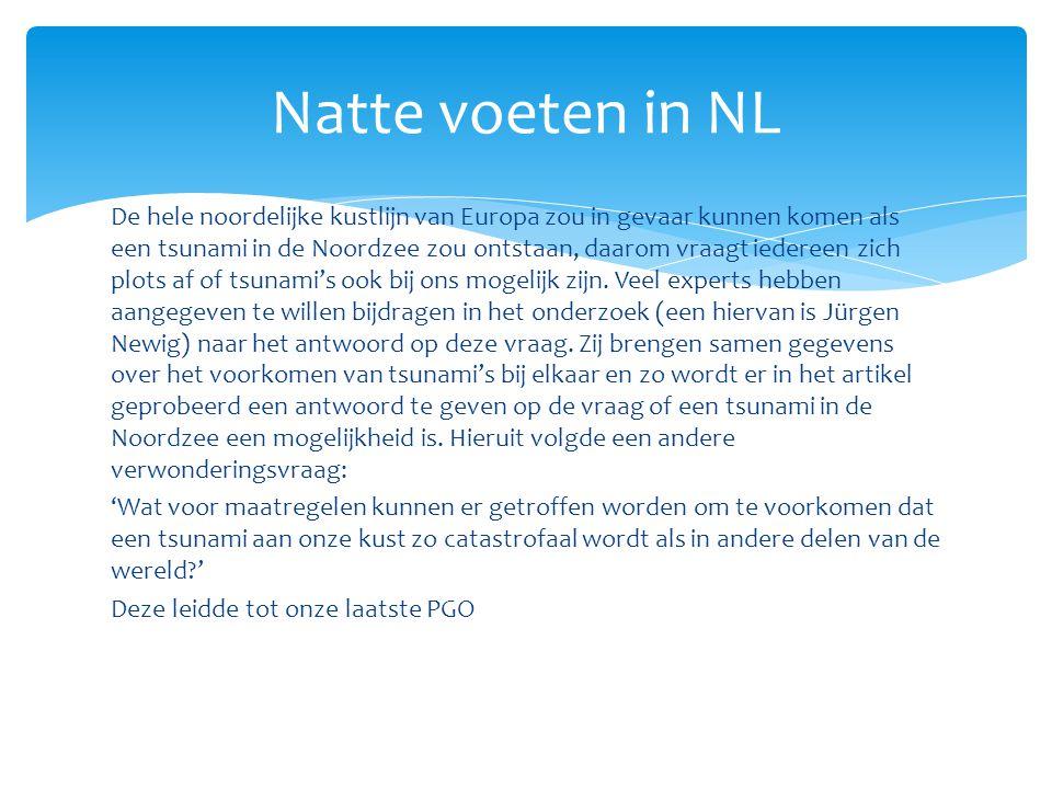 Uiteindelijk kwamen we op een artikel uit met als kern dat Nederland de best tegen overstromingen beveiligde delta ter wereld is.