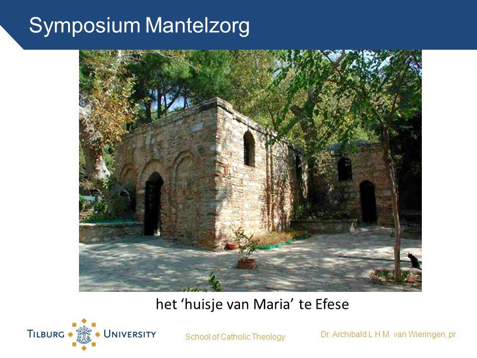 Symposium Mantelzorg School of Catholic Theology Dr. Archibald L.H.M. van Wieringen, pr. het 'huisje van Maria' te Efese