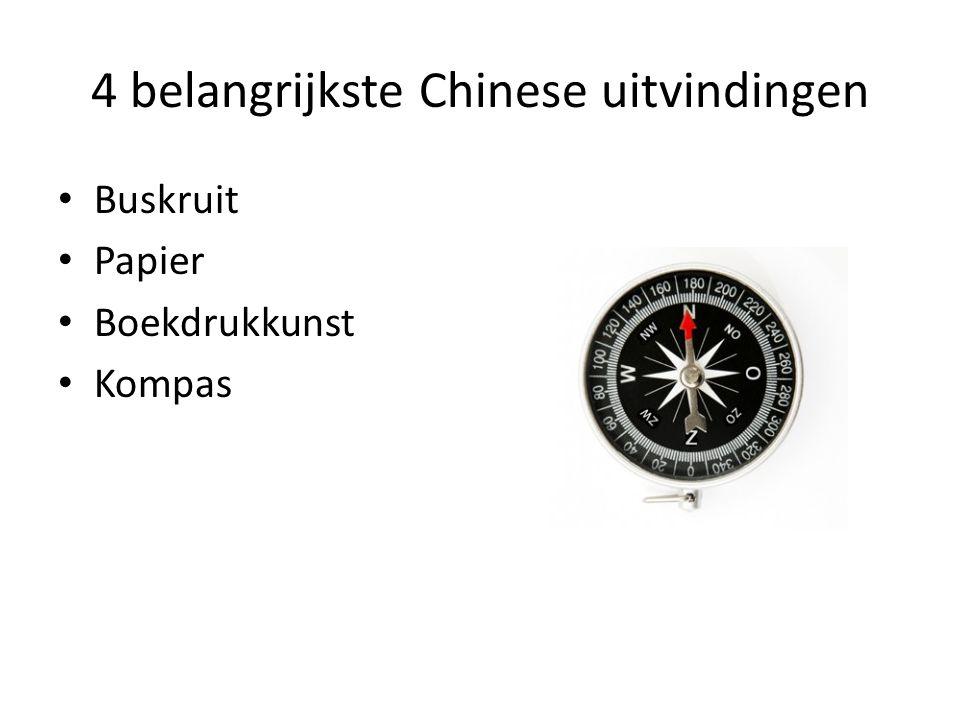 4 belangrijkste Chinese uitvindingen Buskruit Papier Boekdrukkunst Kompas