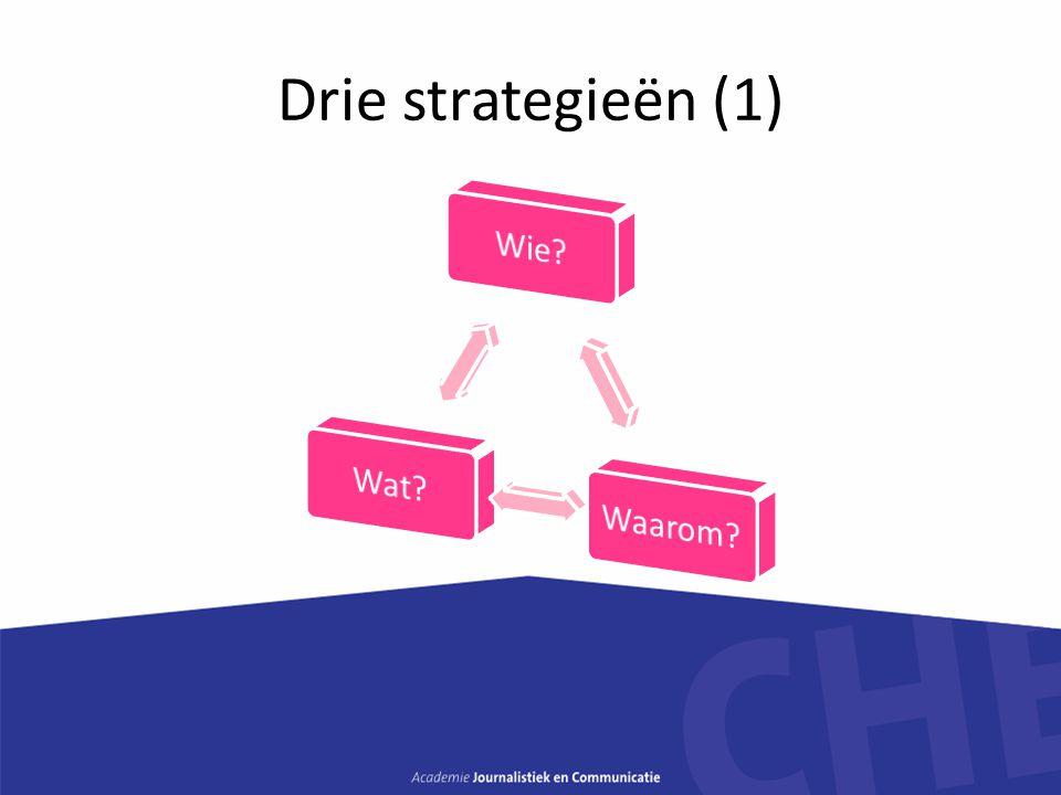 Drie strategieën (1)