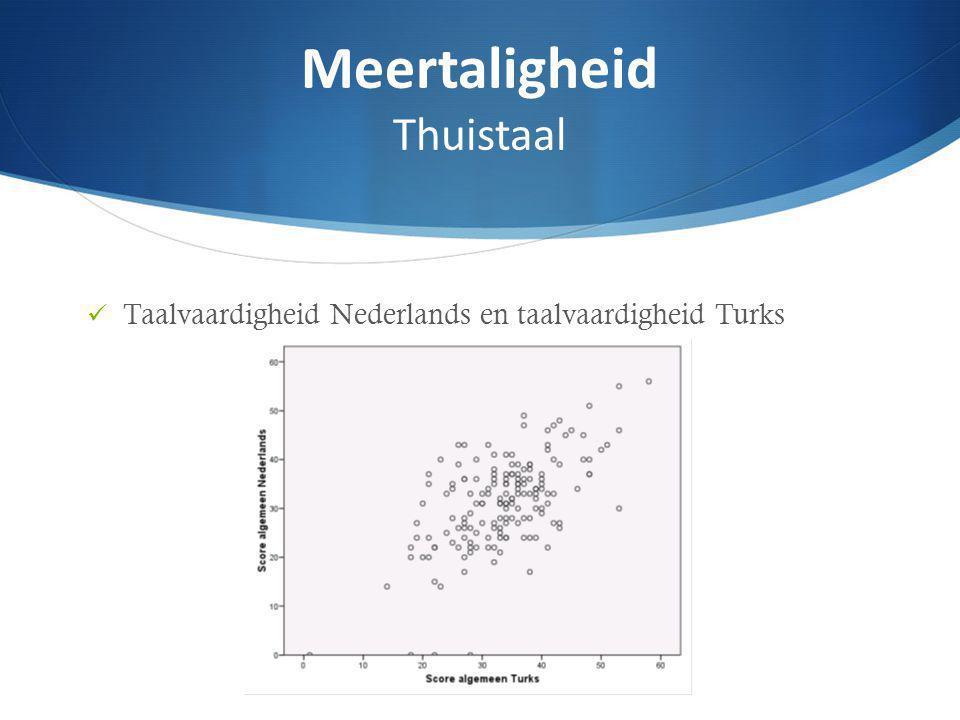 Taalvaardigheid Nederlands en taalvaardigheid Turks Meertaligheid Thuistaal