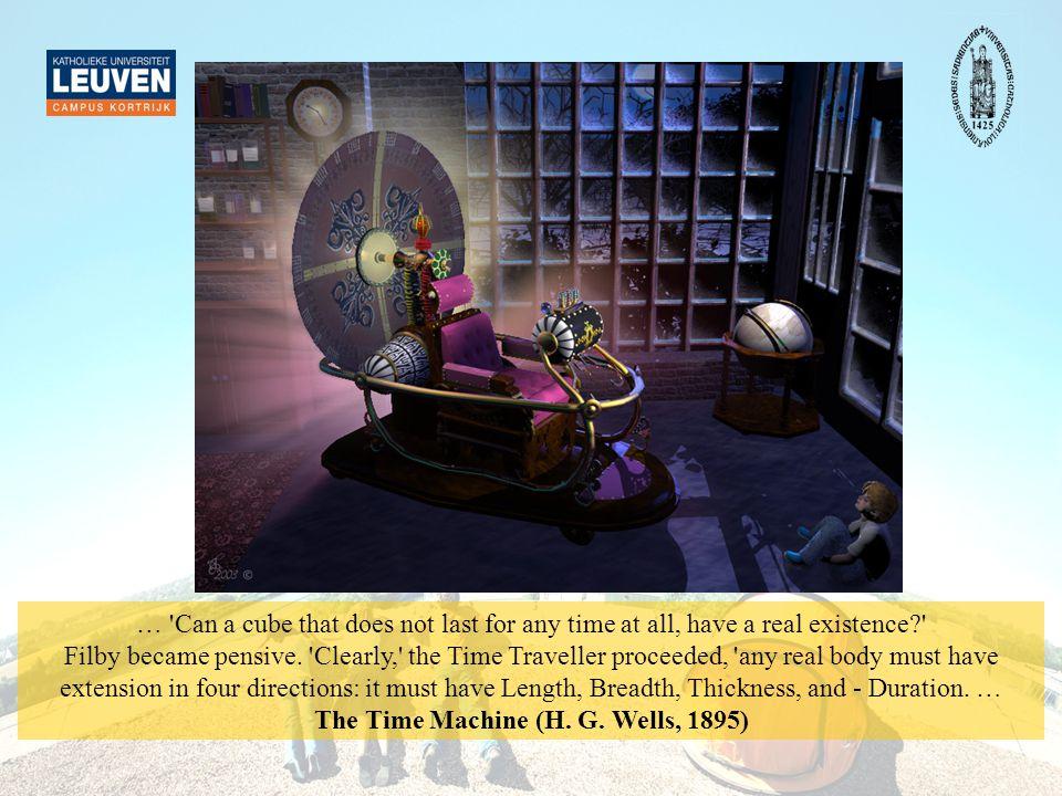 Een tijdmachine H.G. Wells –een schrijver –één van de eerste tijdmachines in de literatuur (1895).