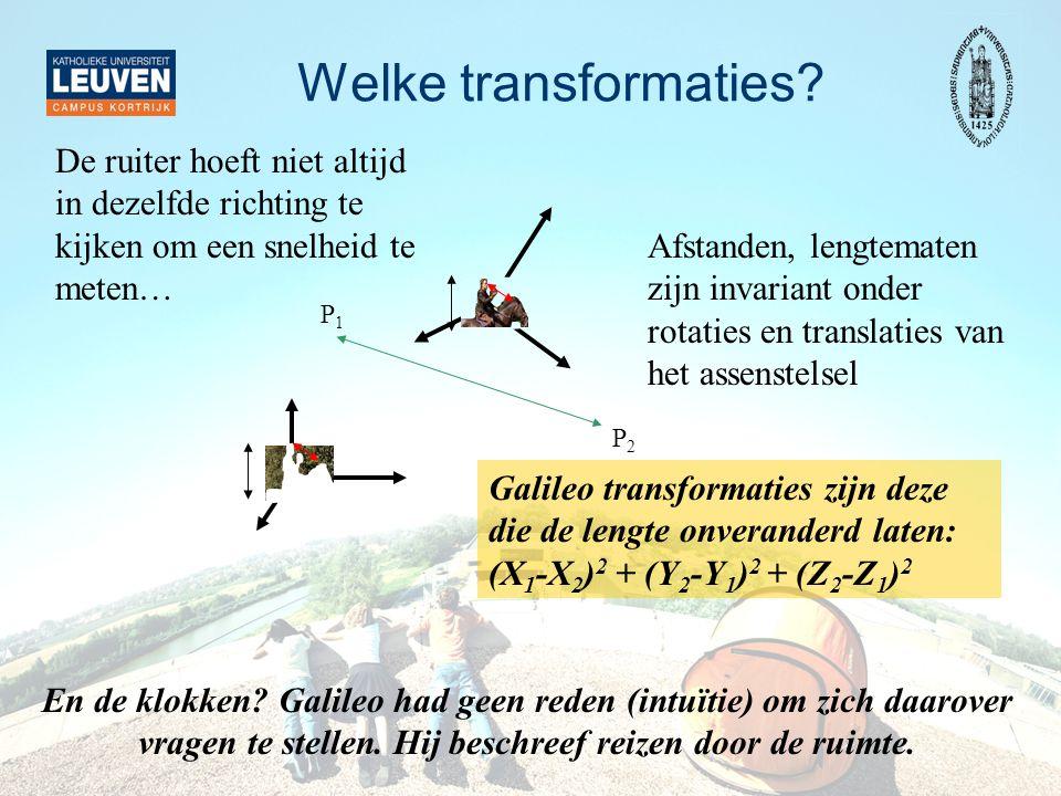 Nog een gedachte-experiment van Galileo Newton: F = m a F = G m M / R 2 => a = G M / R 2 onafhankelijk van m.