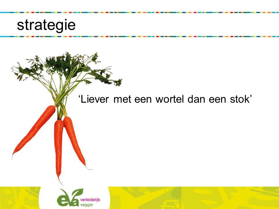 'Liever met een wortel dan een stok' strategie