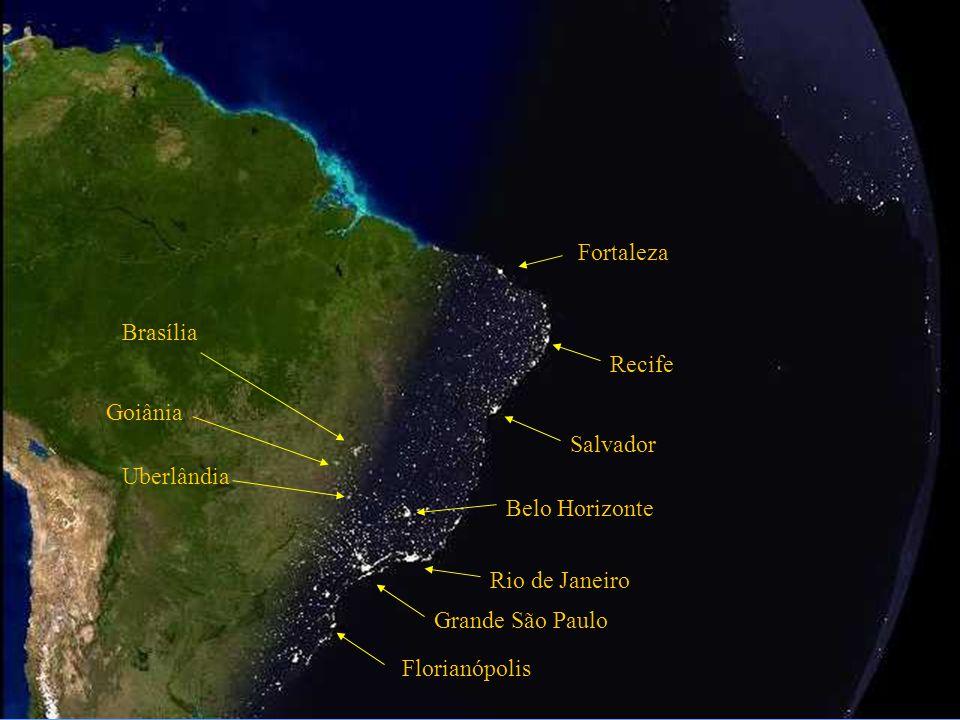 Atlantische Oceaan Salvador Rio de Janeiro Grand São Paulo Belo Horizonte