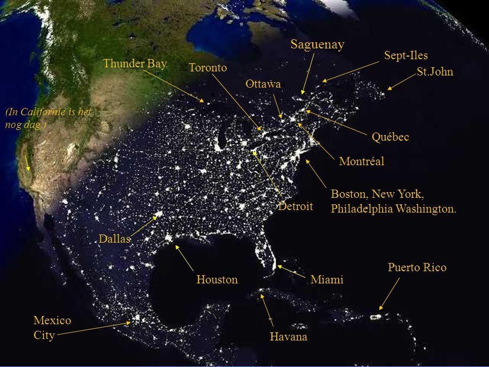 (deze foto toont ons de Amerikaanse steden bij nacht.)