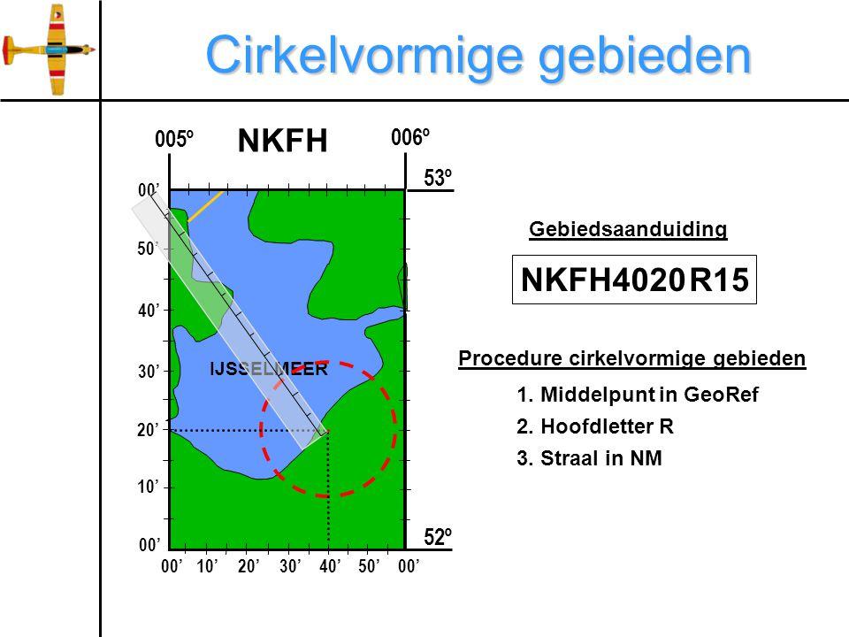 Cirkelvormige gebieden 006º 005º 52º IJSSELMEER NKFH 00'10'20'30'40'50'00' 10' 20' 30' 40' 50' 00' 53º 1.