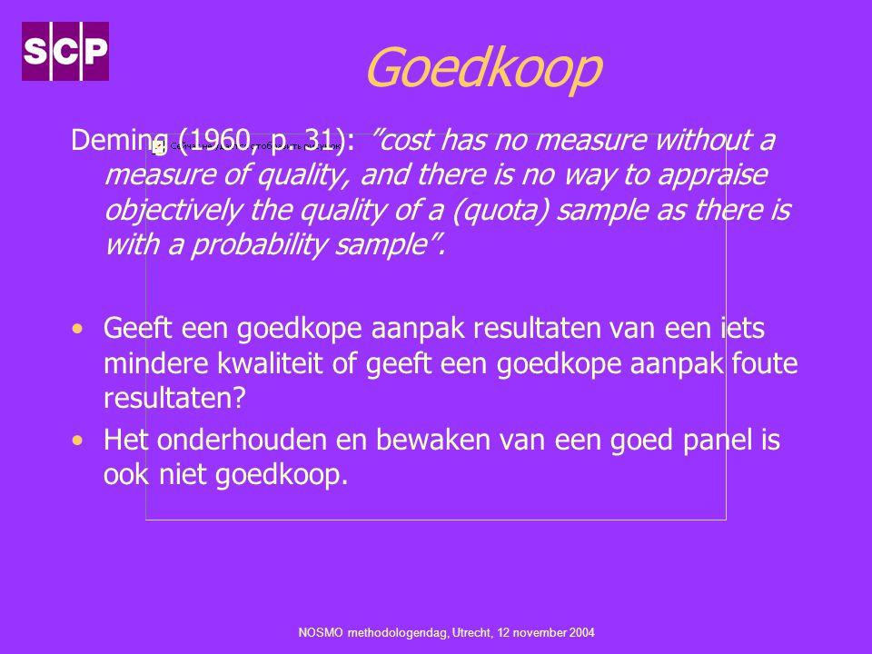 NOSMO methodologendag, Utrecht, 12 november 2004 Goedkoop Deming (1960, p.