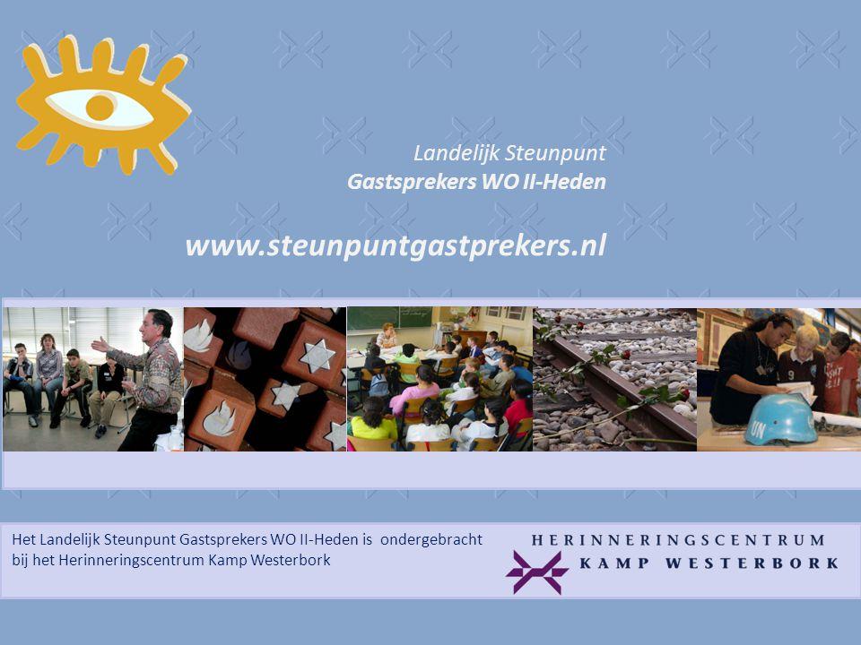 Het Landelijk Steunpunt Gastsprekers WO II-Heden is ondergebracht bij het Herinneringscentrum Kamp Westerbork Landelijk Steunpunt Gastsprekers WO II-H