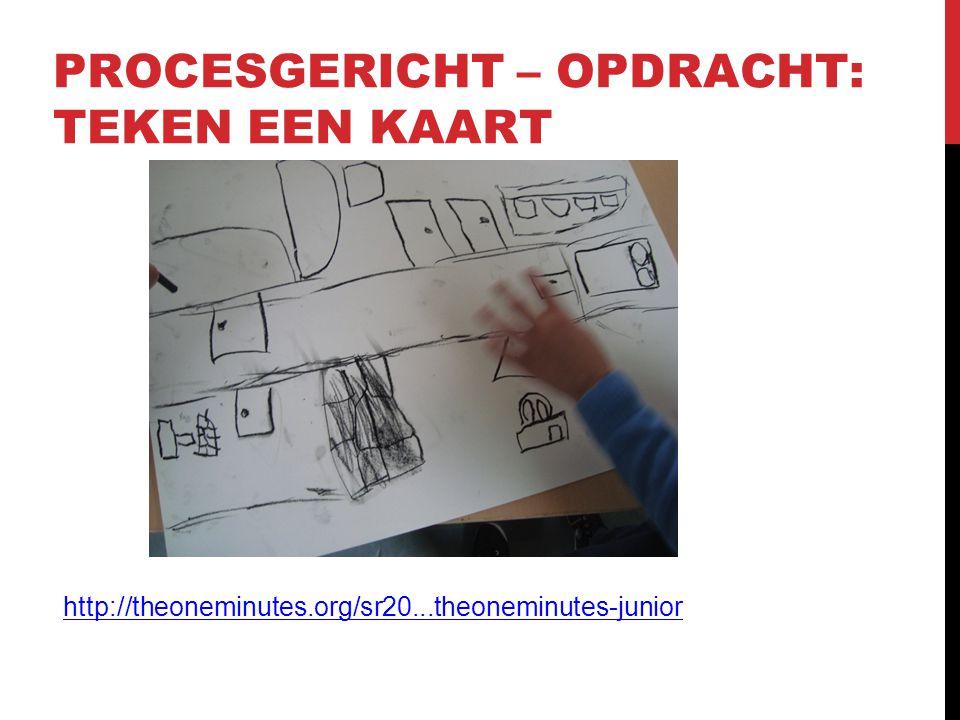 PROCESGERICHT – OPDRACHT: TEKEN EEN KAART http://theoneminutes.org/sr20...theoneminutes-junior