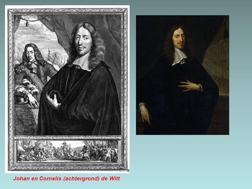 Johan en Cornelis (achtergrond) de Witt