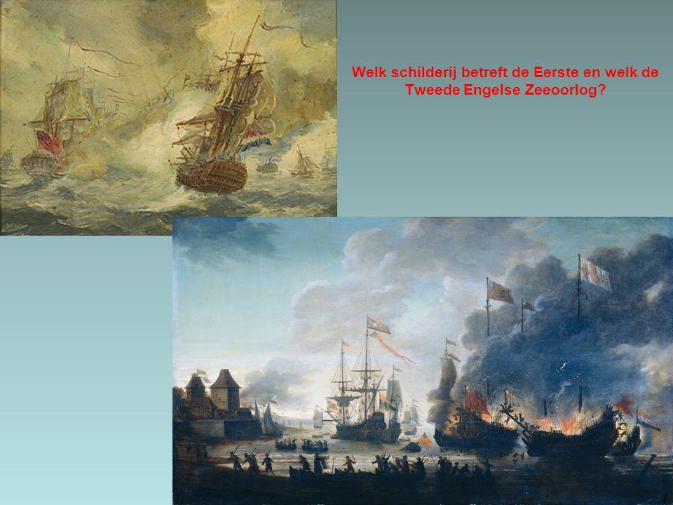 Welk schilderij betreft de Eerste en welk de Tweede Engelse Zeeoorlog