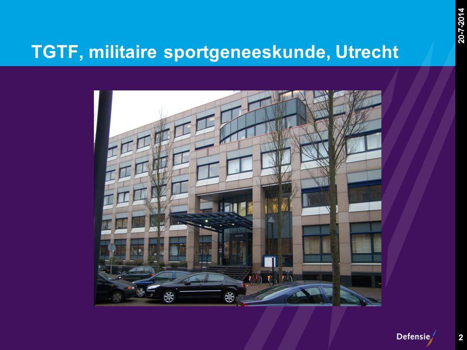 20-7-2014 2 TGTF, militaire sportgeneeskunde, Utrecht