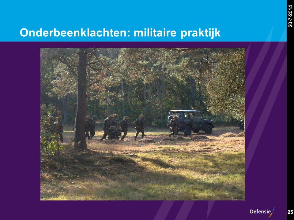 20-7-2014 25 Onderbeenklachten: militaire praktijk