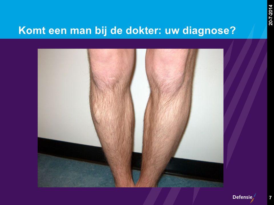 20-7-2014 7 Komt een man bij de dokter: uw diagnose?