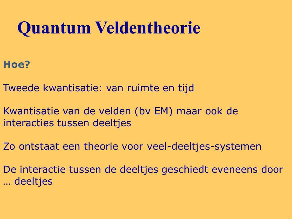 Quantum Veldentheorie Hoe.