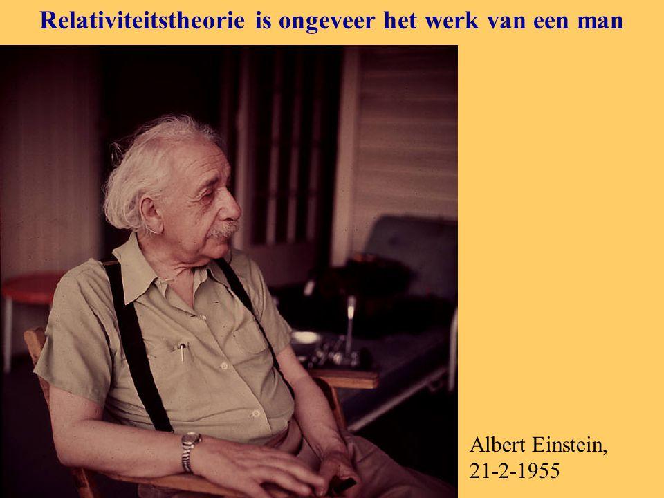 Relativiteitstheorie is ongeveer het werk van een man Albert Einstein, 21-2-1955
