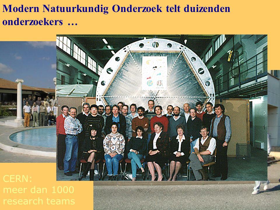 CERN: meer dan 1000 research teams Modern Natuurkundig Onderzoek telt duizenden onderzoekers …