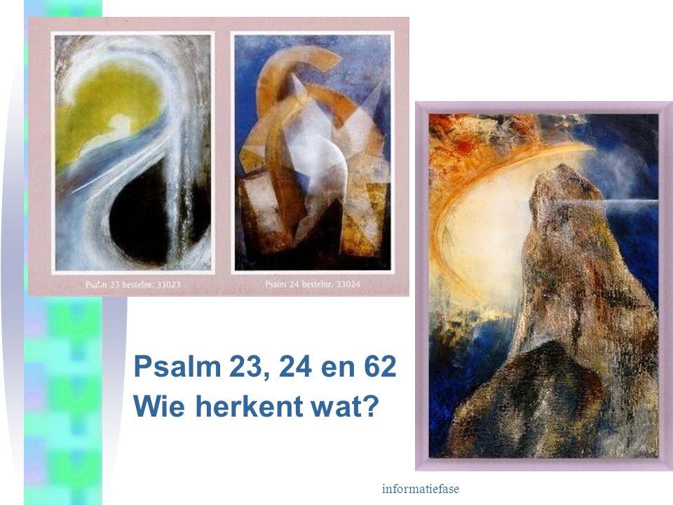 informatiefase Psalm 23, 24 en 62 Wie herkent wat?