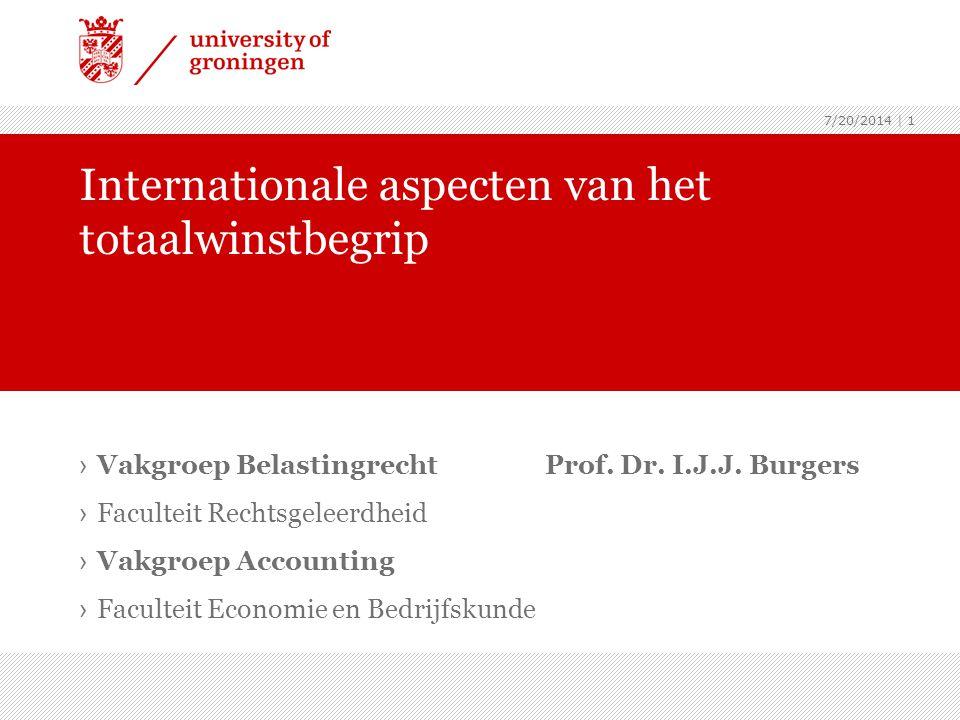 7/20/2014 | 1 › Vakgroep Belastingrecht Prof. Dr.