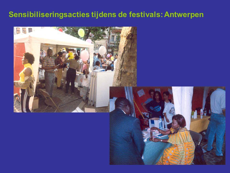 Sensibiliseringsacties tijdens de festivals: Antwerpen