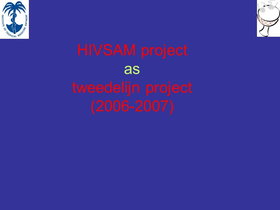 HIVSAM project as tweedelijn project (2006-2007)