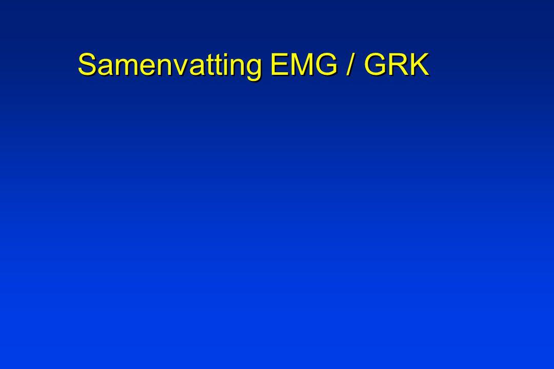 Samenvatting EMG / GRK